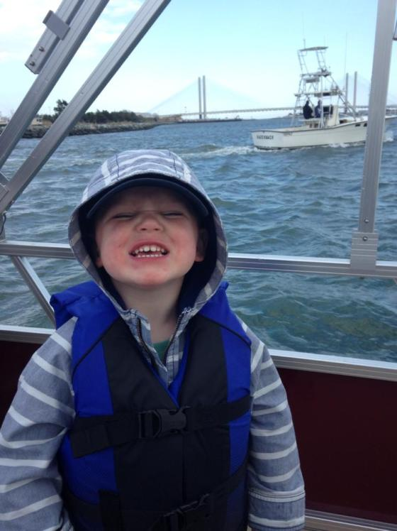 Jackson on the boat:)