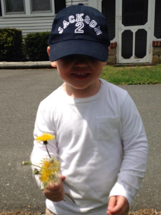 Jackson at the florist